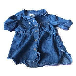 Old navy jean dress 18~24 months